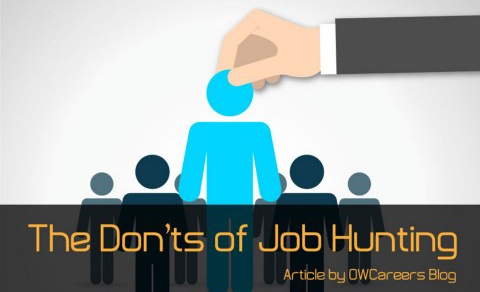 Job Hunting Don'ts