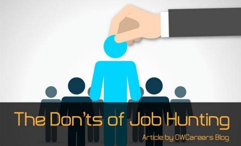 Job Hunting Don'ts