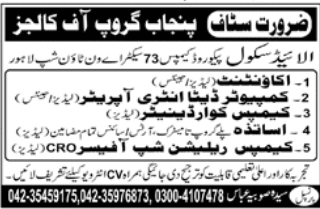 Science Teacher in a company Pakistan