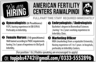 Gynaecologist in a company Pakistan