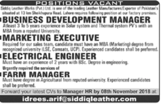 Electrical Engineer in a company Pakistan Lahore