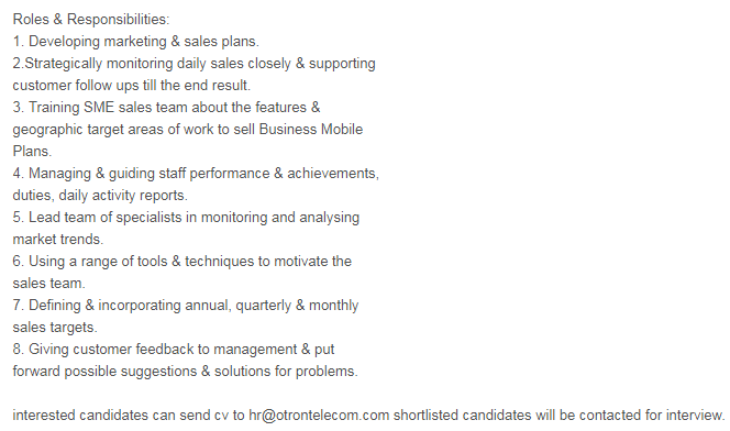BUSINESS DEVELOPMENT MANAGER in a company United Arab Emirates Dubai