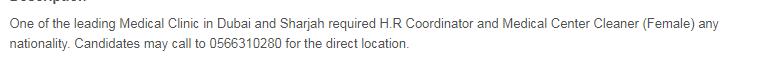 Human Resource Officer in a company United Arab Emirates Dubai
