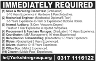 Procurement Manager in a company Pakistan Lahore