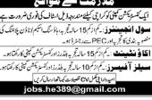 Civil Engineer in a company Pakistan Karachi