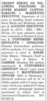 Customer Service Representative in a company Pakistan Karachi