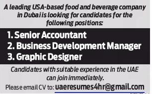 Senior Accountant in a company United Arab Emirates Dubai