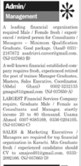 Marketing Executive in a company Pakistan Karachi