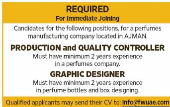 Graphic Designer in a company United Arab Emirates Ajman