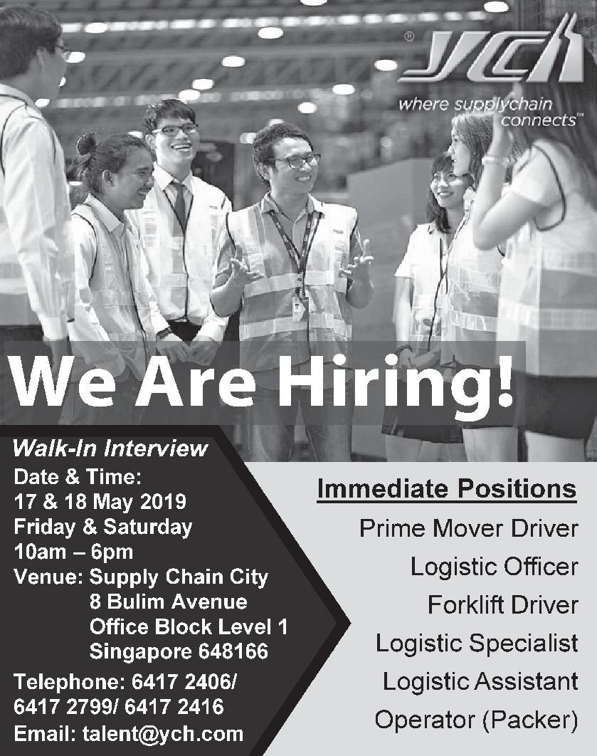 Logistic Specialist in a company Singapore Singapore