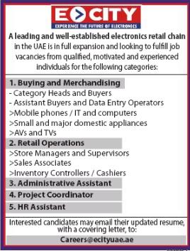 Retail Operation in a company United Arab Emirates Dubai