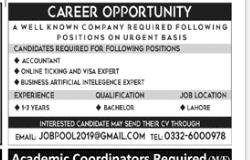 Visa Expert in a company Pakistan Lahore