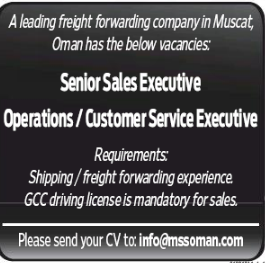 Operations Executive in a company United Arab Emirates Dubai