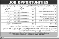 Cash Collection Officer in a company Pakistan Lahore