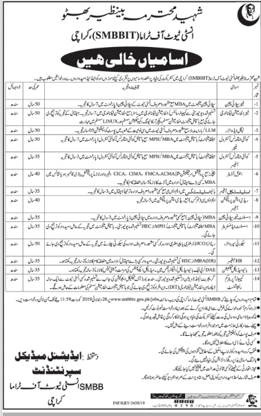 Statistical Officer in a company Pakistan Karachi