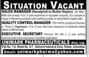 Executive Secretary in a company Pakistan Rawalpindi