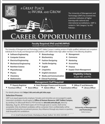 Managment Staff in a company Pakistan Rawalpindi