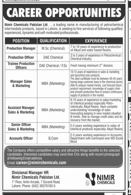 Marketing Manager in a company Pakistan Lahore