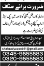 Office Staff in a company Pakistan Lahore