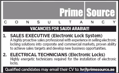 Sales Executive in a company United Arab Emirates Dubai