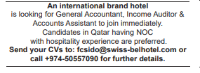 Accounts Assistant in a company Qatar Doha