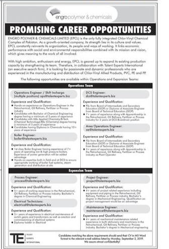 Operations Engineer in a company Pakistan Lahore