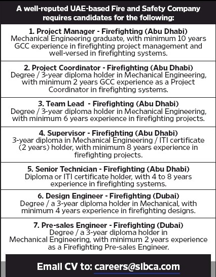 Supervisor - Firefighting in a company United Arab Emirates Abu Dhabi