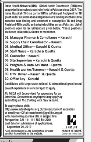 Supply Chain Coordinator in a company Pakistan Karachi