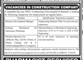 Business Development Manager in a company Pakistan Karachi