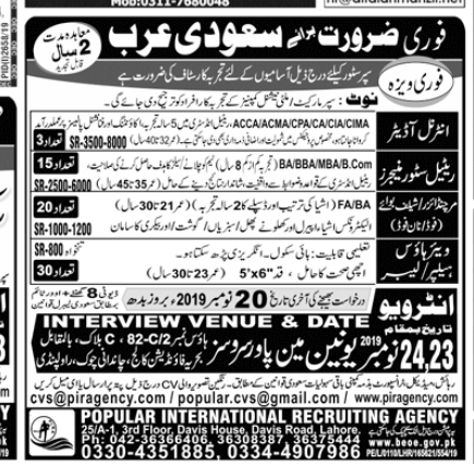 Internal Auditor in a company Pakistan Rawalpindi