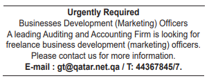 Businesses Development (Marketing) Officers in a company Qatar Doha