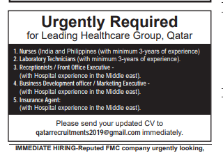 Business Development Officer in a company Qatar Doha