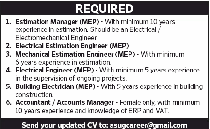 Account Manager in a company United Arab Emirates Dubai
