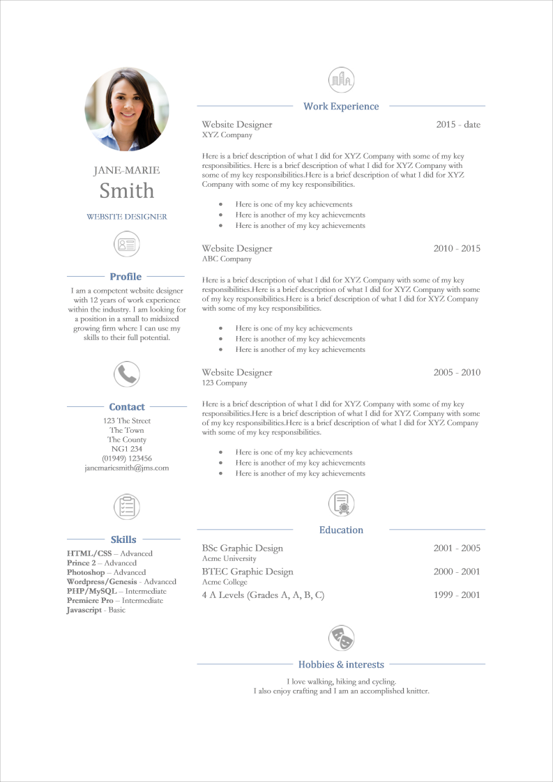 Splendid CV for Website Designers Template